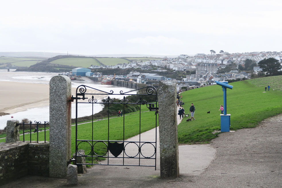 view of padstow fishing town in cornwall