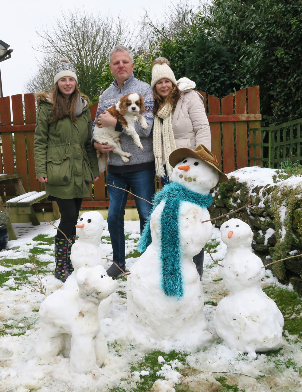 snow family and real family