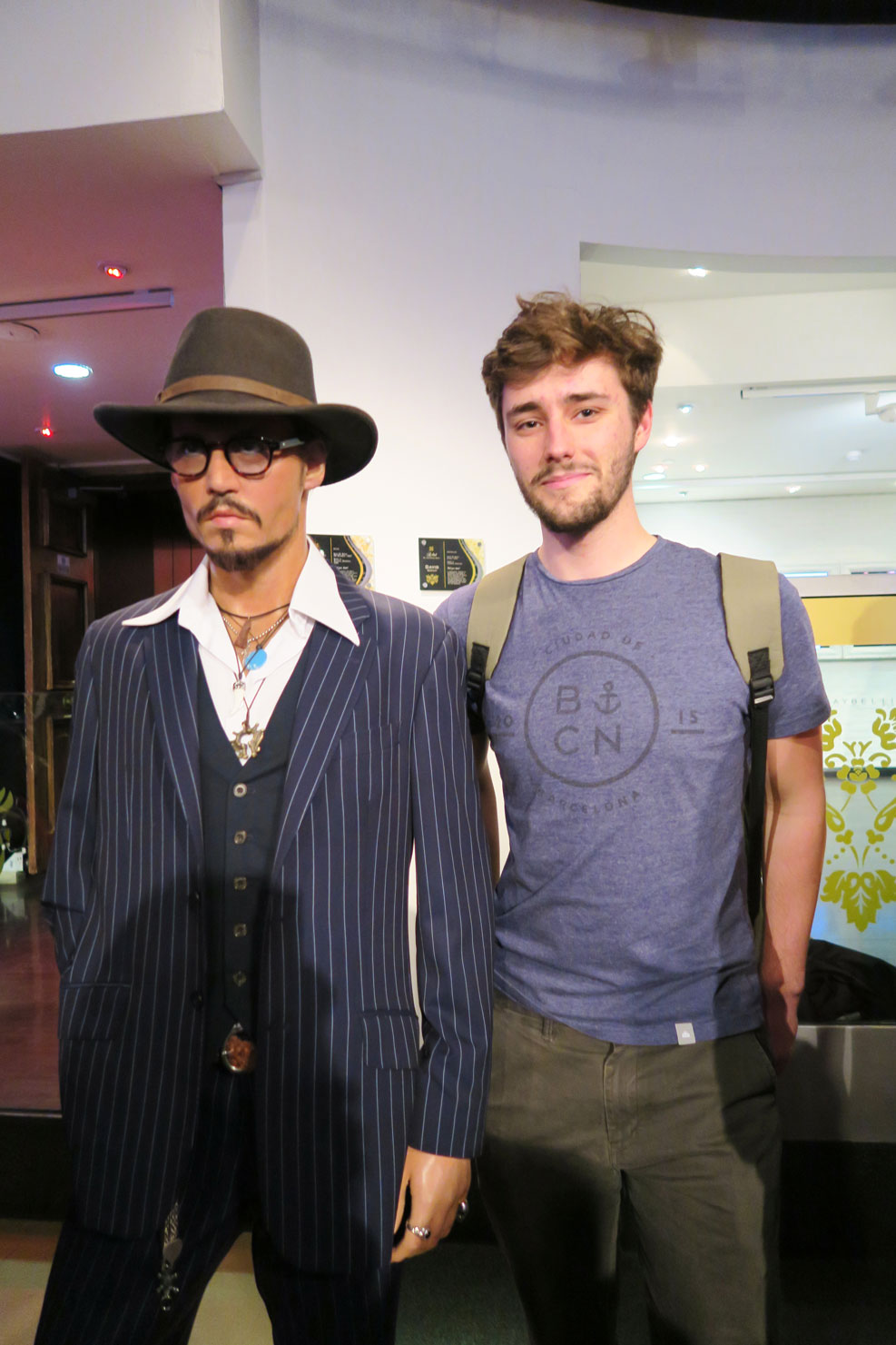 johnny depp wax work at madame tussauds in london