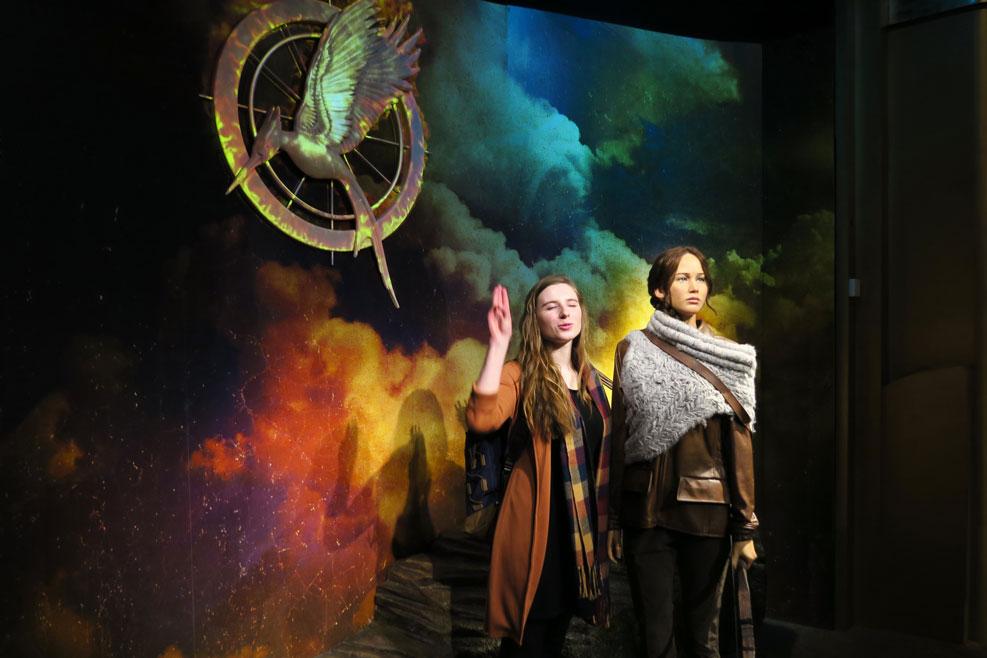 katniss everdeen wax work in madame tussauds in london