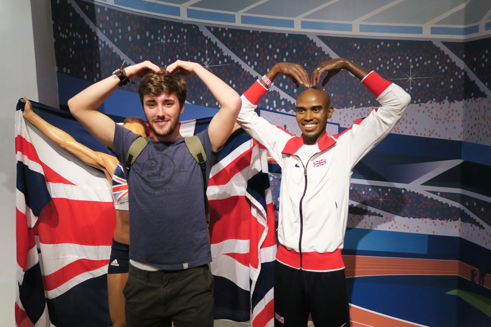 mo farah wax work at madame tussauds in london