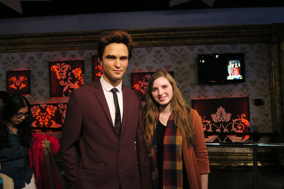 robert pattinson wax work in madame tussauds in london
