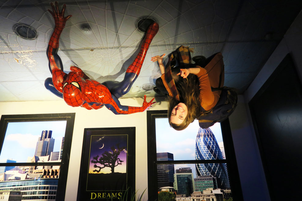 spiderman at madame tussauds in london