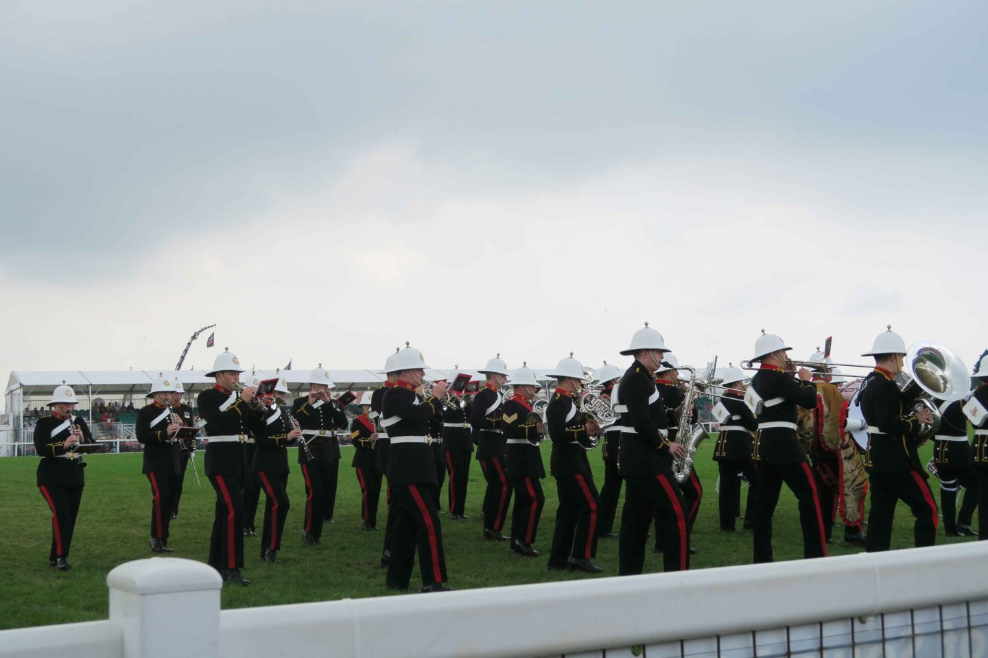 marching band in the cornwall show ground