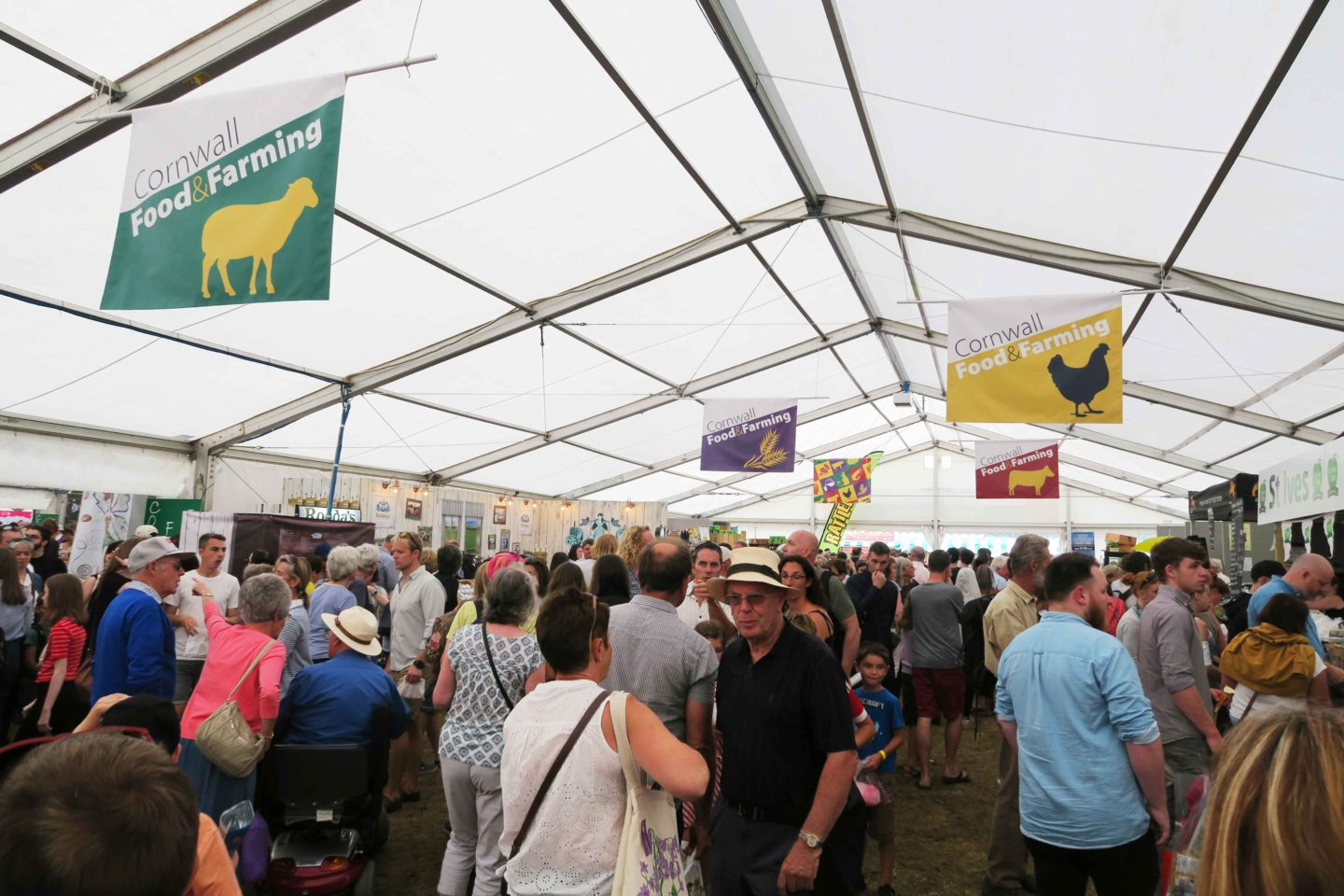 food tent at the royal cornwall show