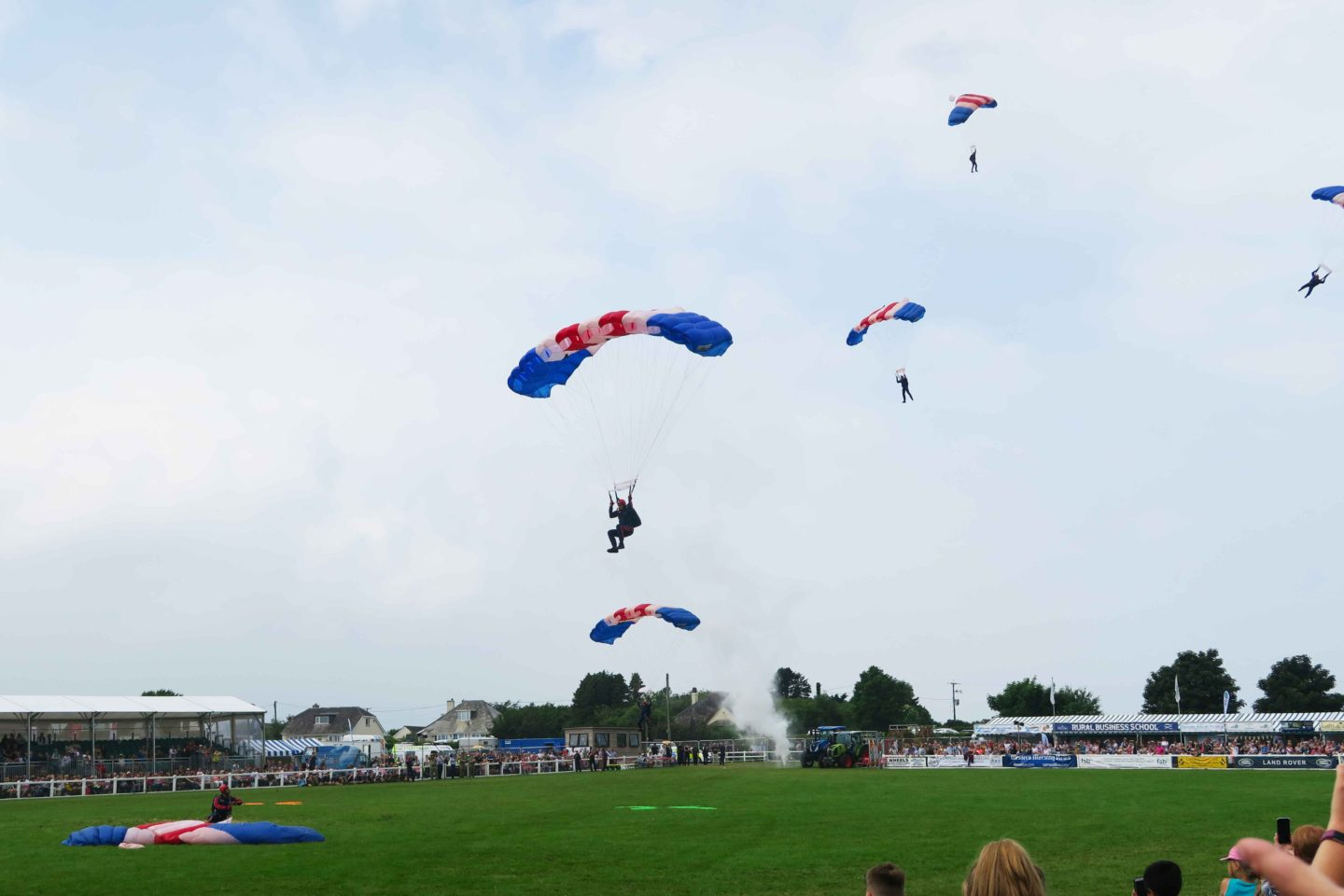 RAF parachuters at the royal cornwall show