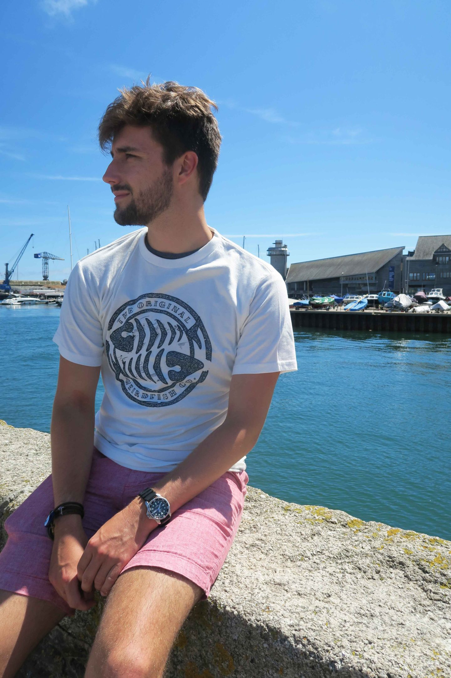 weird fish male t-shirt falmouth