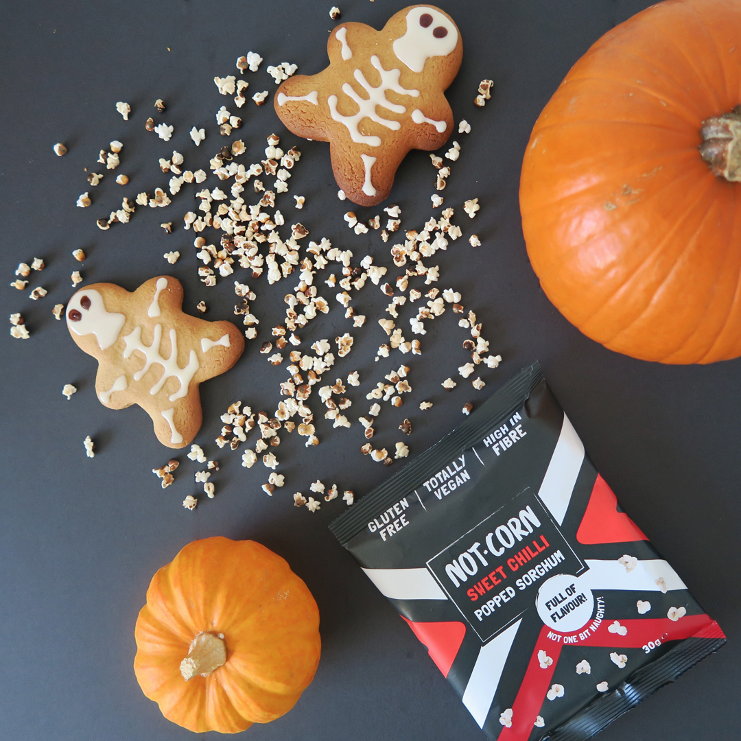 halloween skeleton gingerbread treats