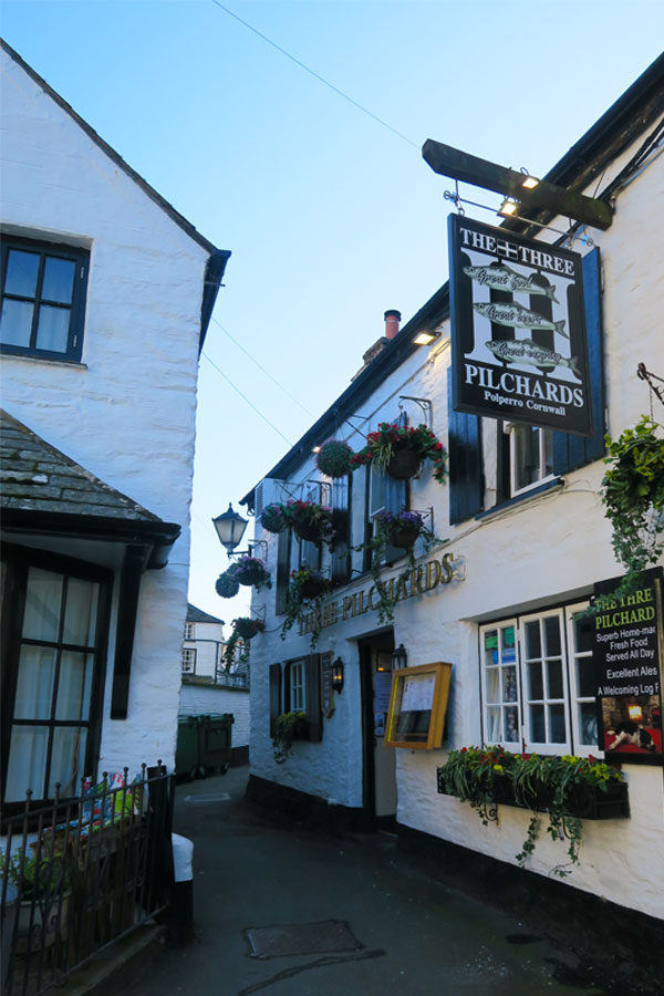 the three pilchards in polperro in cornwall
