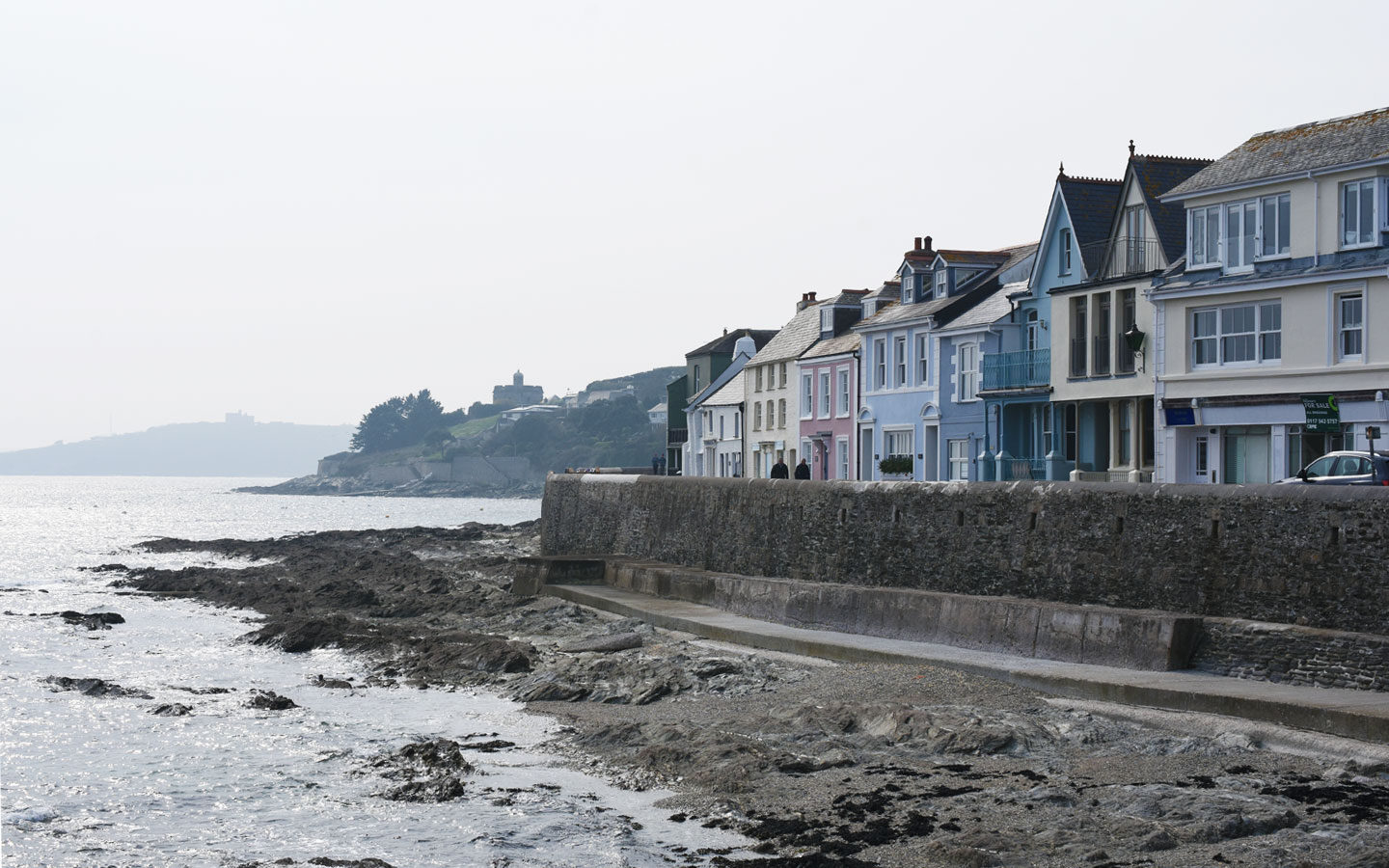 saint mawes coastline and castle in cornwall