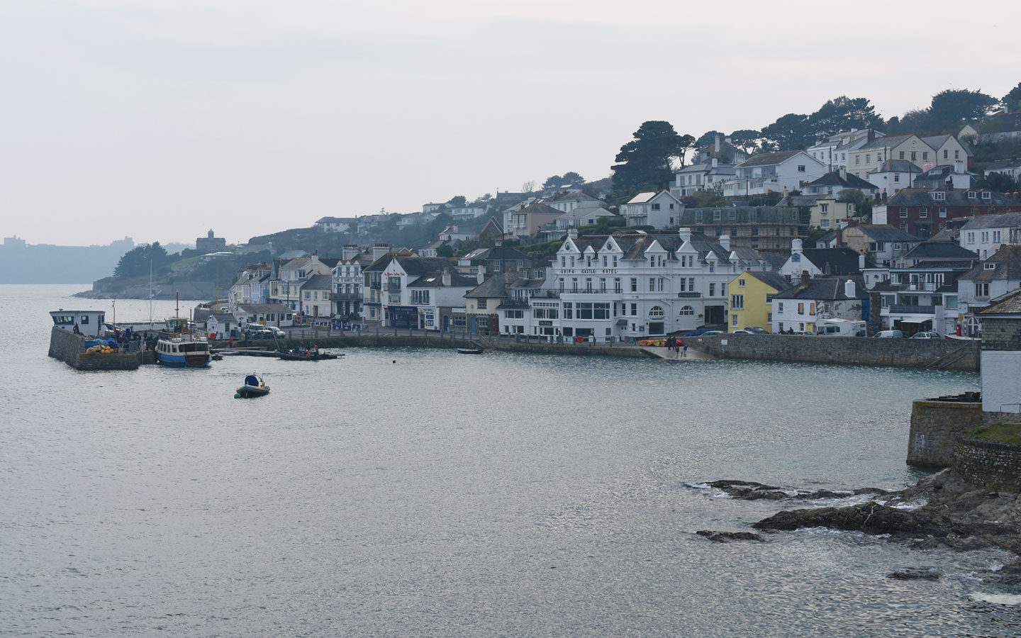 saint mawes harbour and town in cornwall