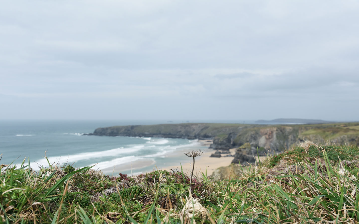 bedruthan steps owned by the national trust coastline