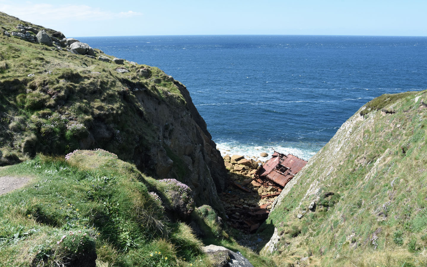 rms mulheim boat washed up between sennen and lands end