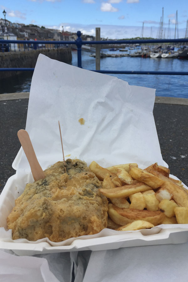 takeaway vegan fish and chips in falmouth