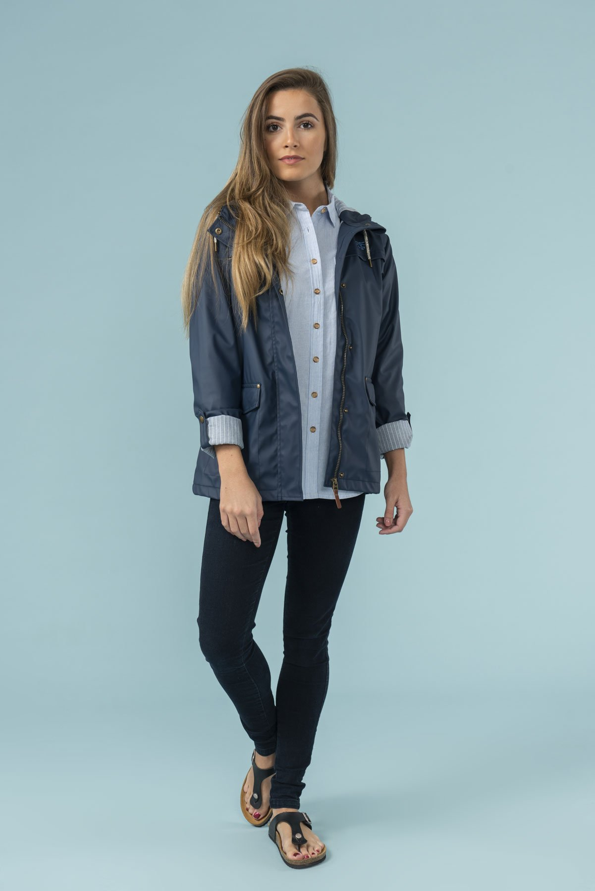 navy waterproof coat from lighthouse clothing