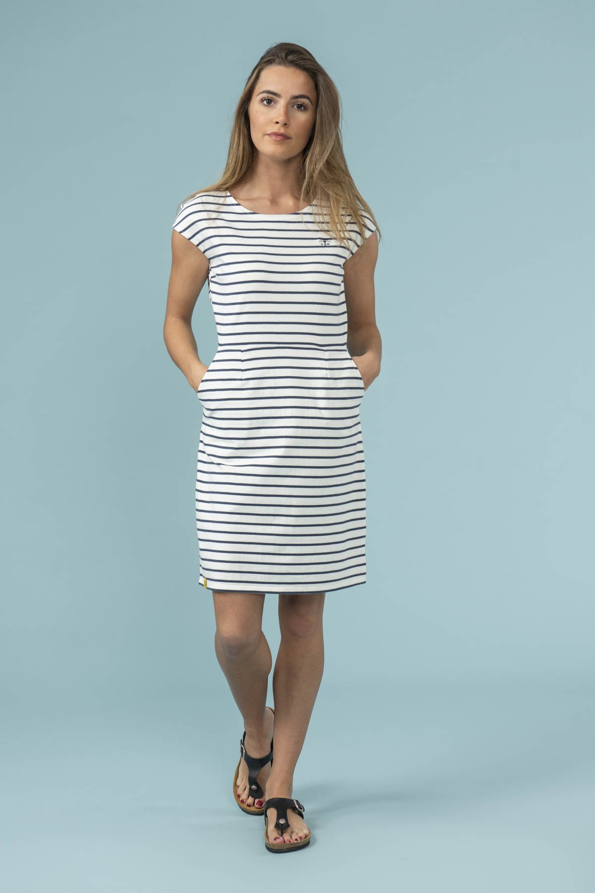 lilianna white striped dress from lighthouse clothing
