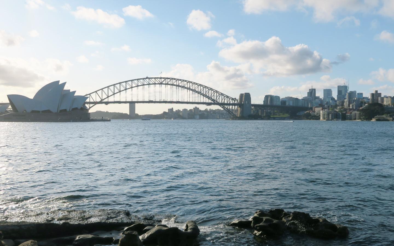 sydney opera house and sydney harbour bridge