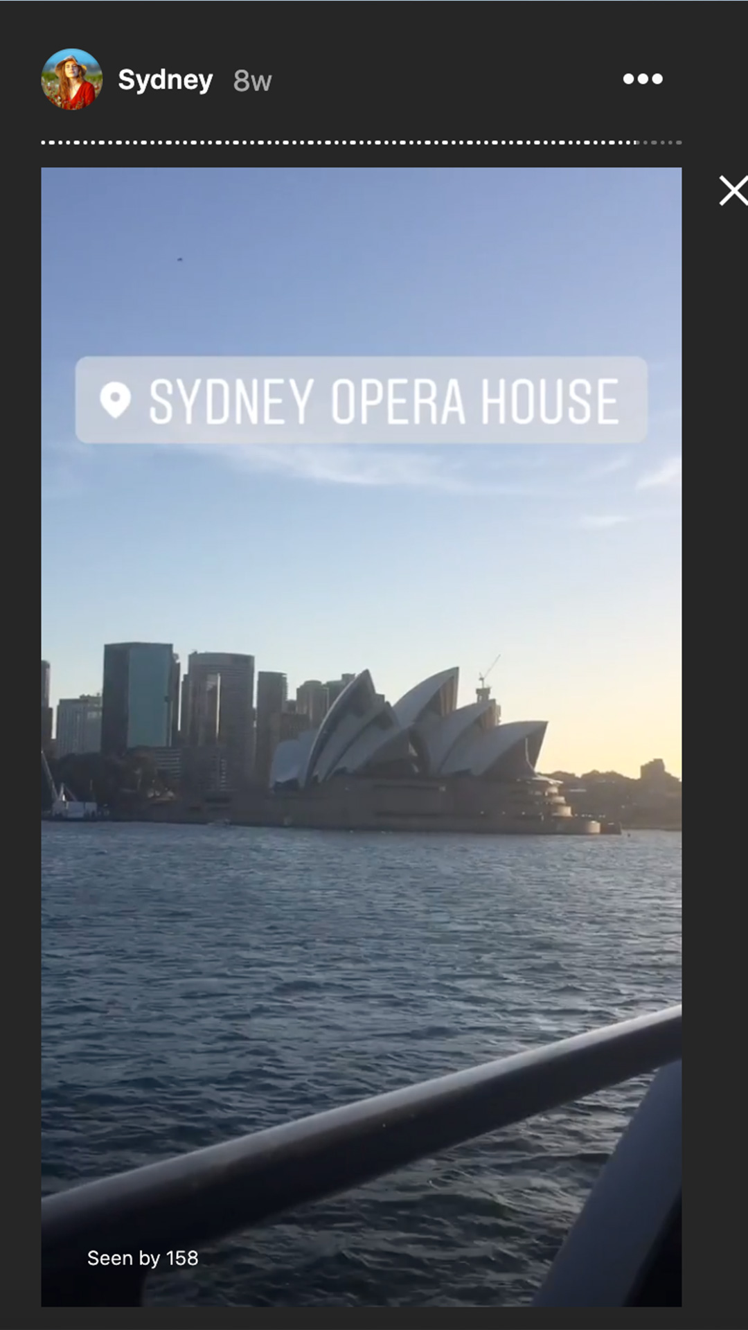 sydney opera house from a ferry in sydney harour
