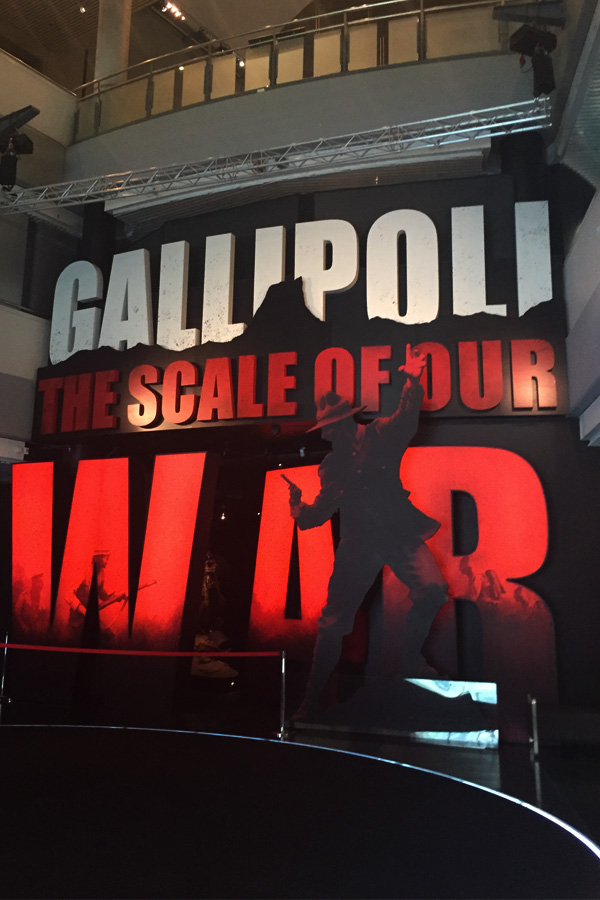gallipoli the scale of our war exhibition entrance in te papa