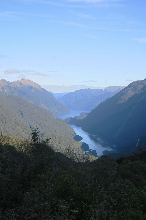 view of doubtful sound fiordland in new zealand