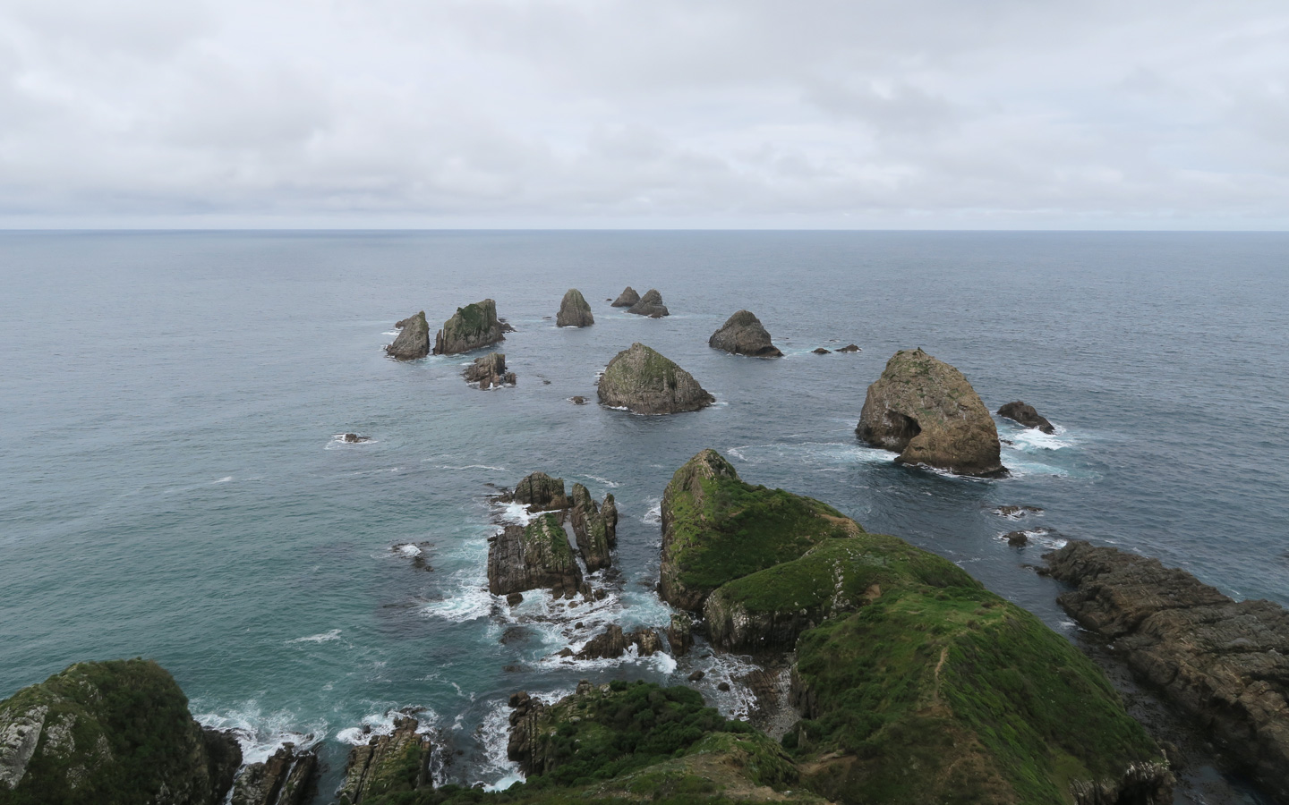 nugget point on the south island of new zealand