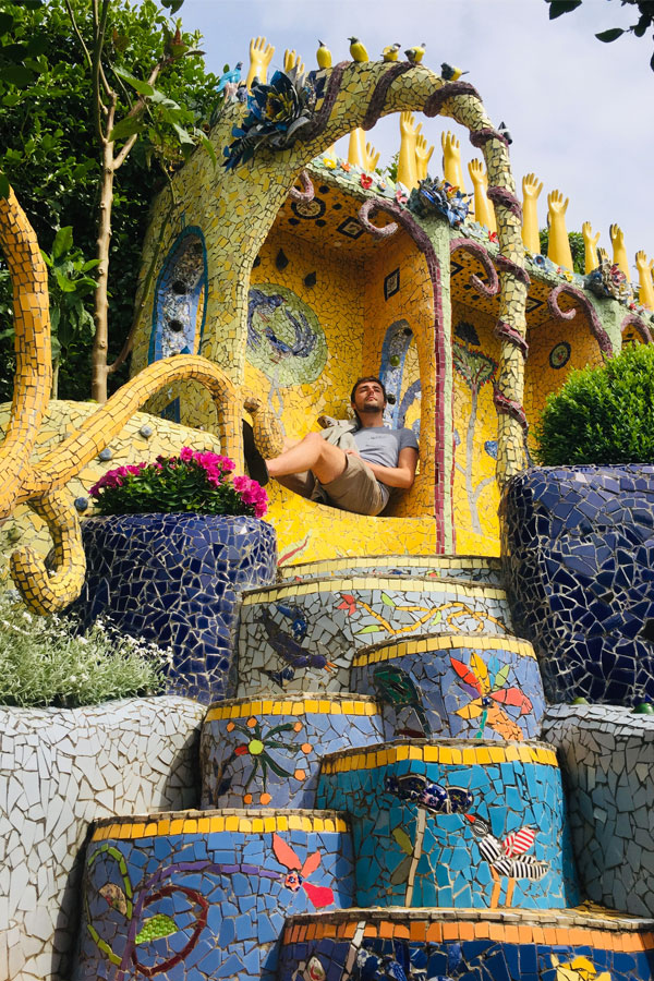 mosaic garden called the giant's house in akaroa in new zealand