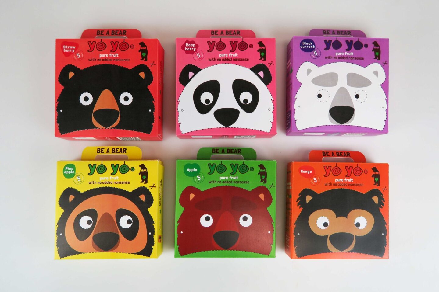 bear snack packaging design by melissa carne graphic designer in cornwall