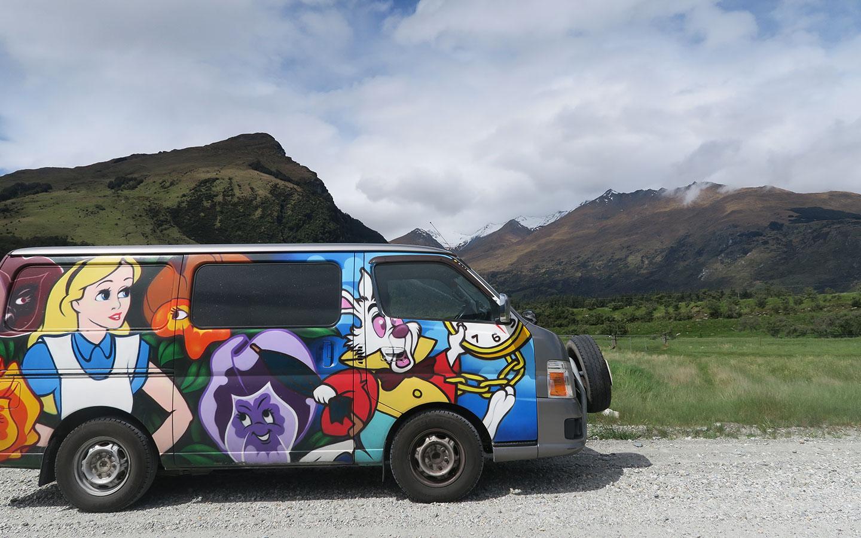 escape rental campervan in new zelaland