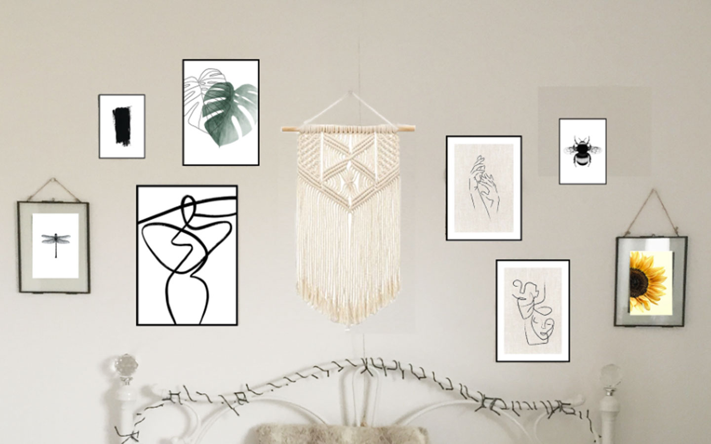 how to chose the layout of your gallery wall
