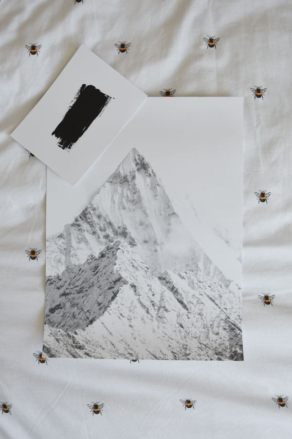 desenio print giveaway for monohromatic gallery wall design