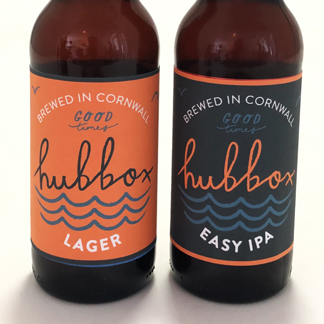 alcoholic packaging for hubbox in cornwall