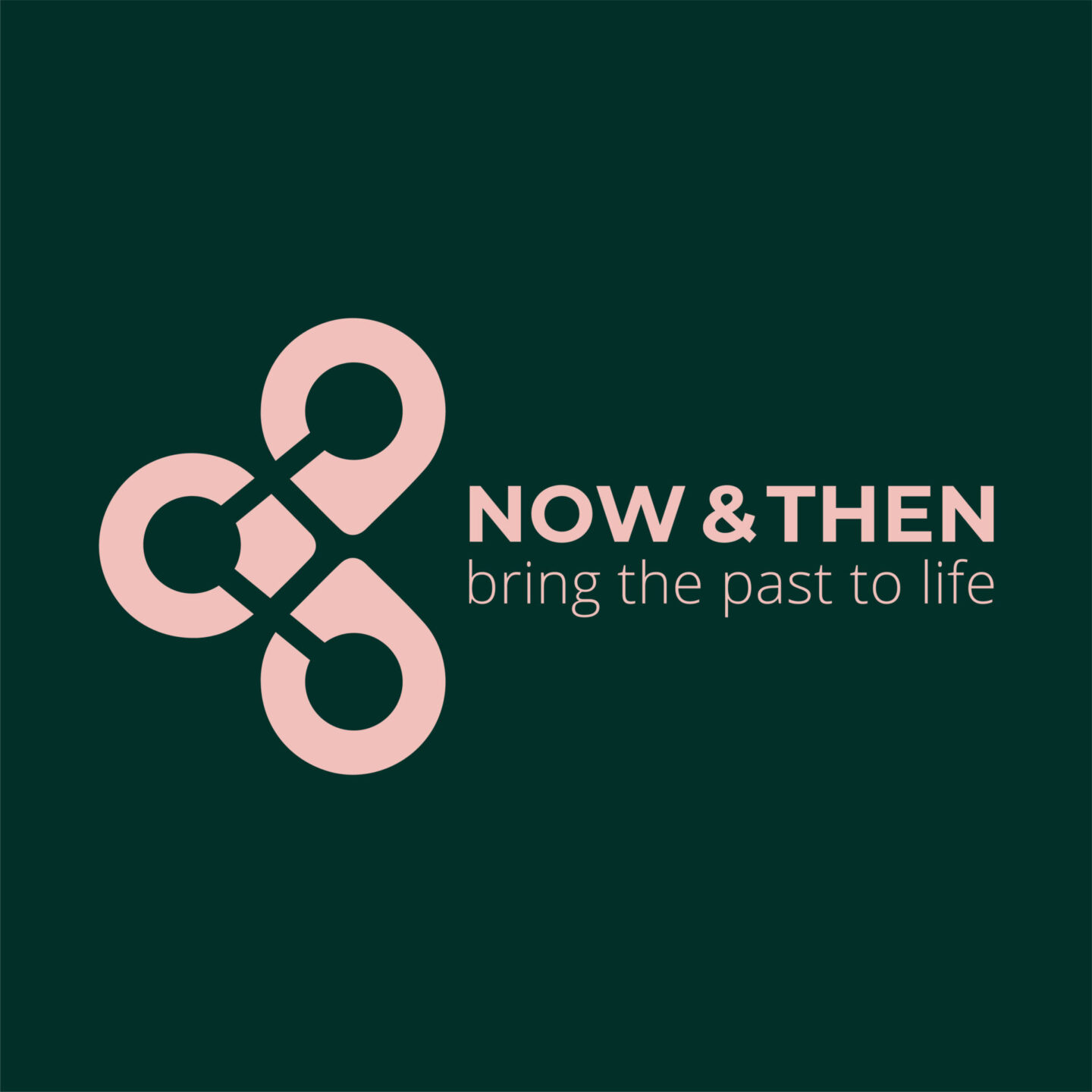 now and then logo design by melissa carne