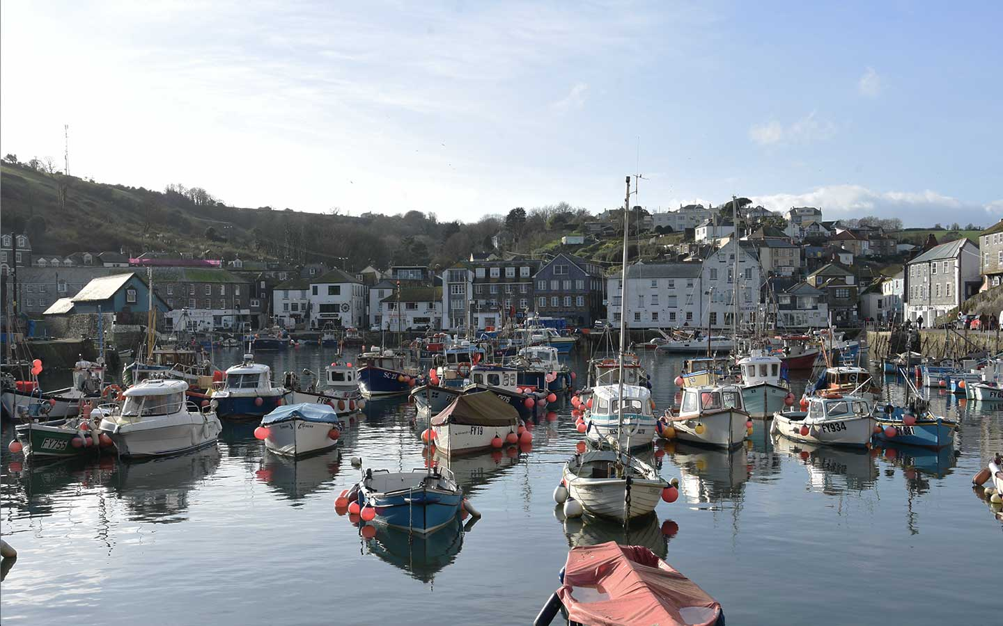 mevagissey fishing town in cornwall, uk