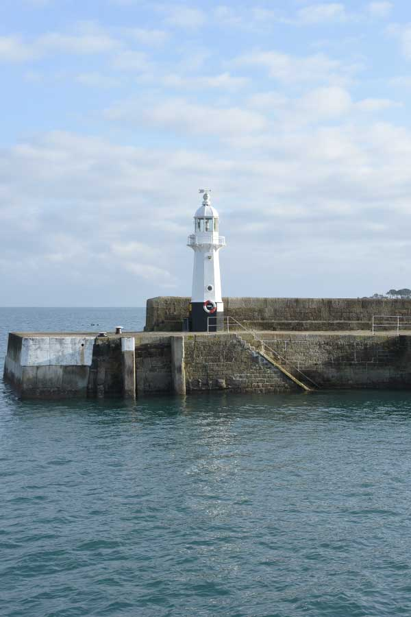 lighthouse at mevagissey in cornwall