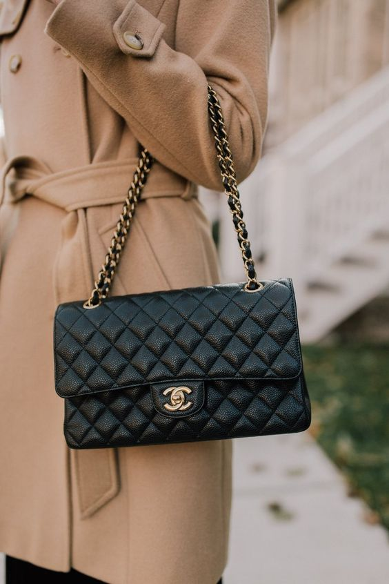 black chanel blog with cc logo