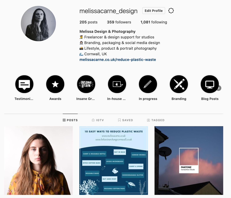 melissa carne freelance graphic designer instagram