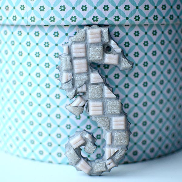 blue coast mosaic seahorse
