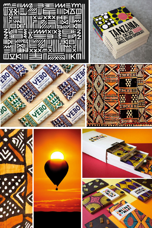 african inspired pattern mood board