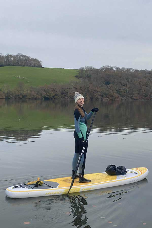 paddleboarding in cornwall melissa carne