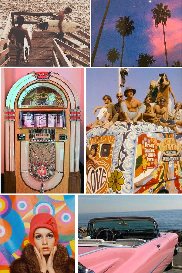 vintage hippie mood board by melissa carne freelance graphic designer