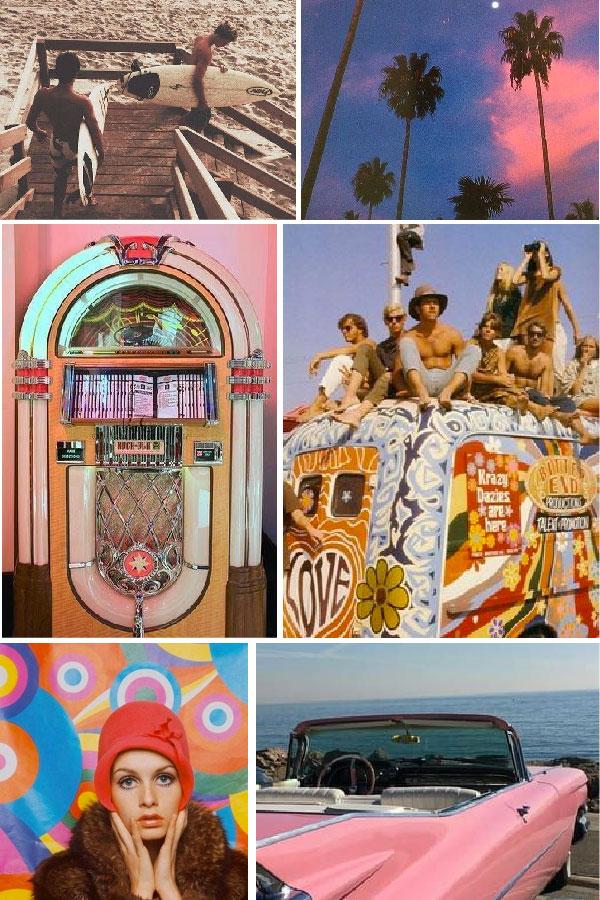 vintage hippie mood board by melissa carne freelance graphic designer