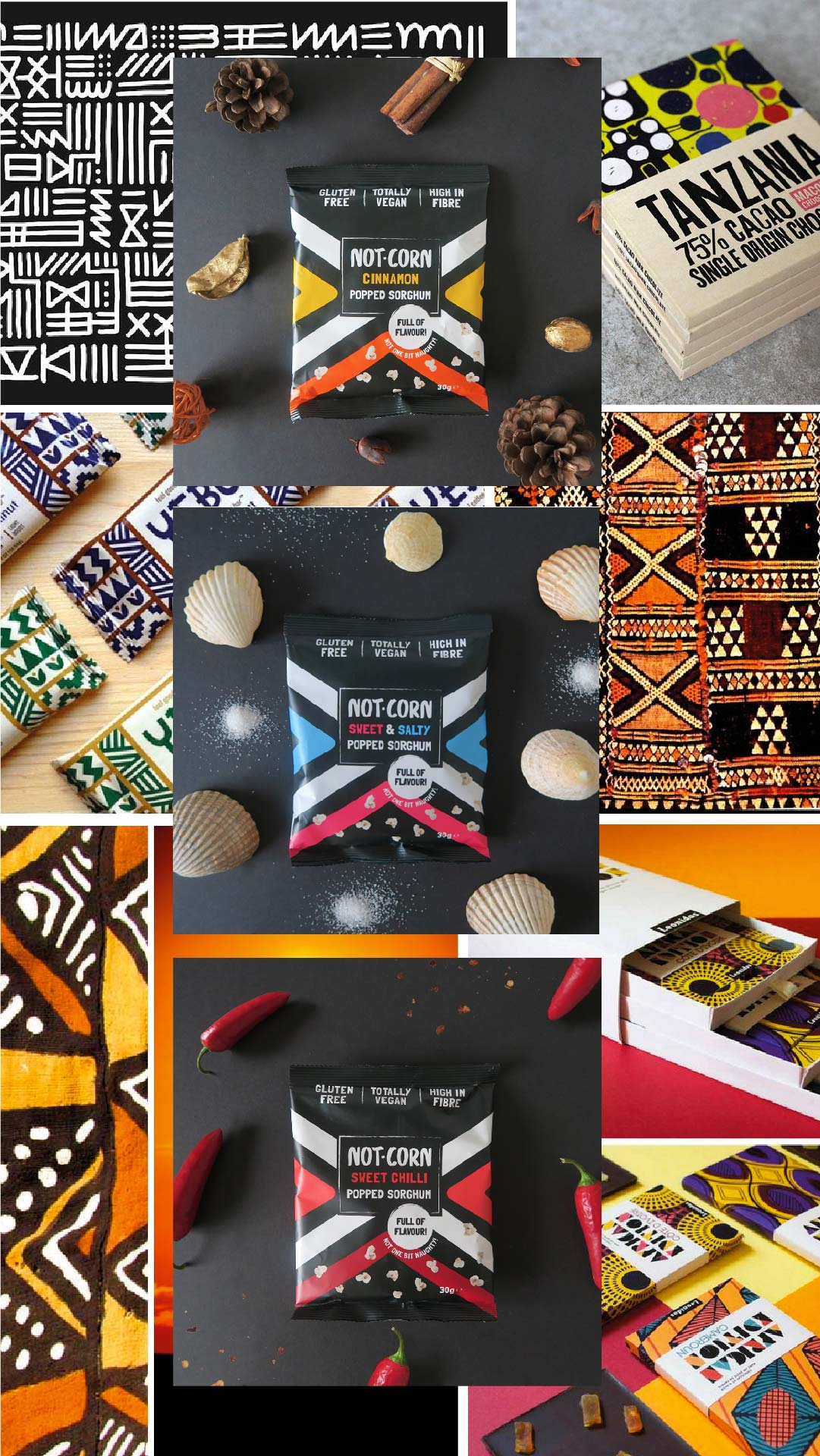african colour palette for packaging design