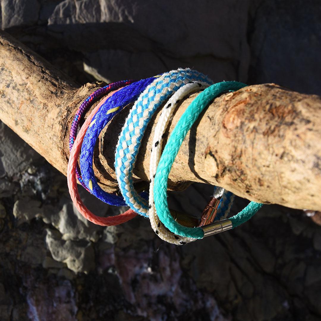 ghost net bracelets handmade in cornwall