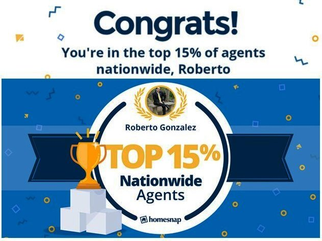 Top 15% of agents Nationwide 2020!