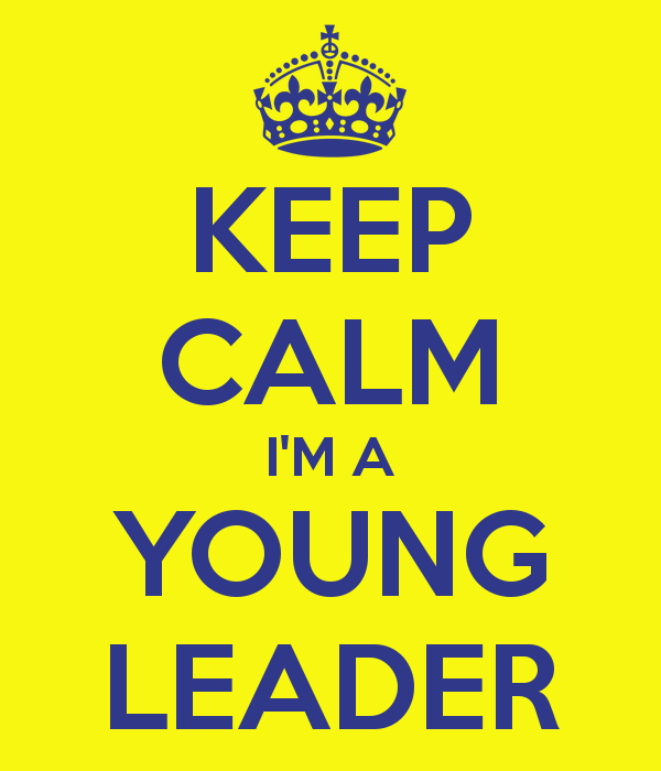 Keep Calm I'am a young leader