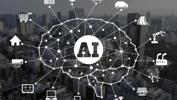 AI image showing applications of AI