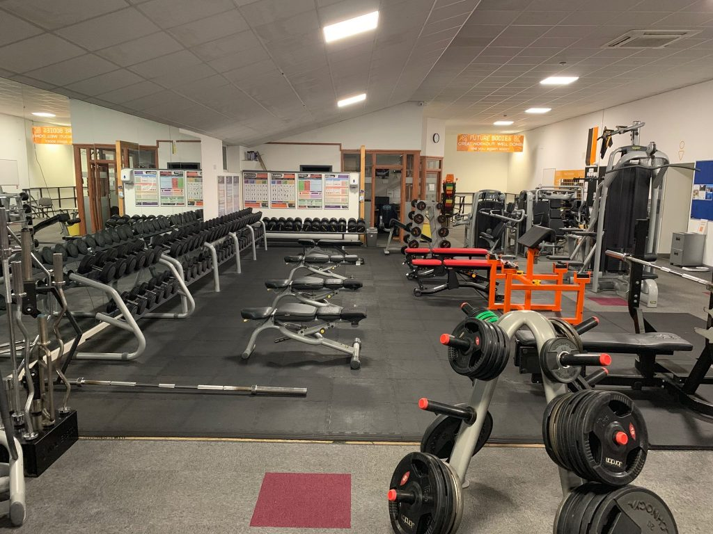 Free weights up to 55kg DB's!