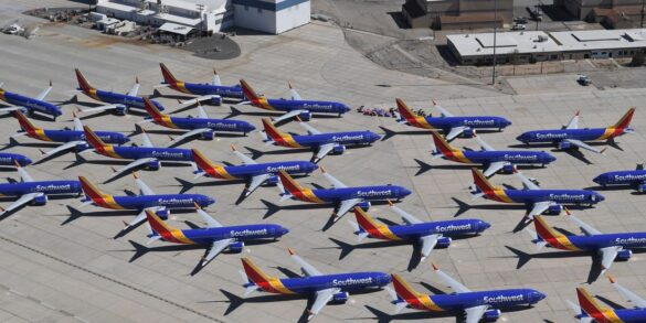 southwest planes Grounded