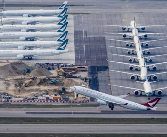 Cathay Pacific Grounded Fleet