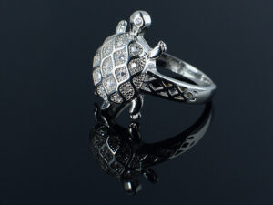 Tortoise Finger ring sterling silver 925 Silverycraft view 1 SILVERYCRAFT original Silver craft jewellery in India and genuine sterling silver 92.5 jewelry collection silver products silver gifts silver wedding collections female male kids silver sterling 925 silver jewels rare collection silvers Fashion silver fashonable silver crafts Indian made silver e commerce website online silver purchase buy silver jewelleries online SILVERYCRAFT Silver jewellery's Silvery crafts crafted silvers India's fine quality silver at www.silverycraft.com